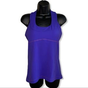 lululemon Purple Scoop Neck Yoga Halter Tank